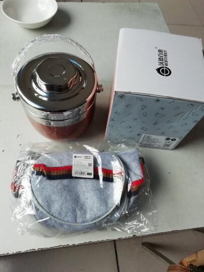 沃德百惠(WORTHBUY)保温桶不锈钢保温提锅饭盒双层便当盒创意分格成人2层手提超长保温饭盒学生 1.5L原色 晒单图