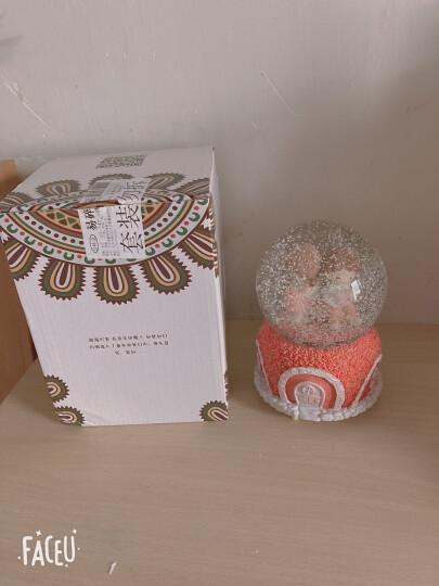 色豆 520情人节母亲节礼物水晶球音乐盒八音盒 公司年会创意礼品生日礼物 送女友小孩子 独角兽月亮大号(七钢琴曲/七彩灯光/自动喷雪) 晒单图