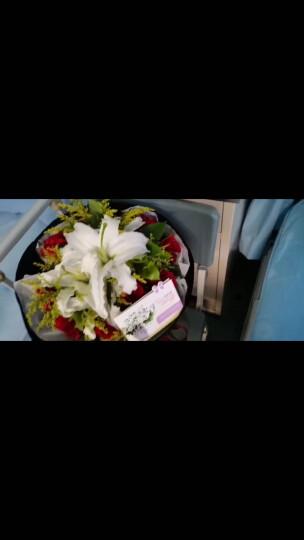 花锦集鲜花速递百合花玫瑰花束生日礼物情人节送女友老婆北京上海广州深圳成都全国同城配送花店 19朵香水百合-H款 晒单图