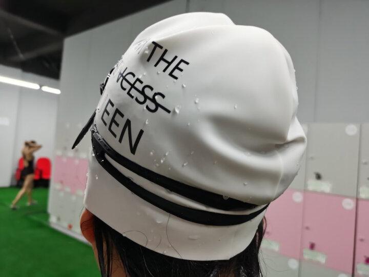范德安(BALNEAIRE) 泳帽女 防水护耳硅胶泳帽 男女通用专业长发大号游泳帽 白色 晒单图