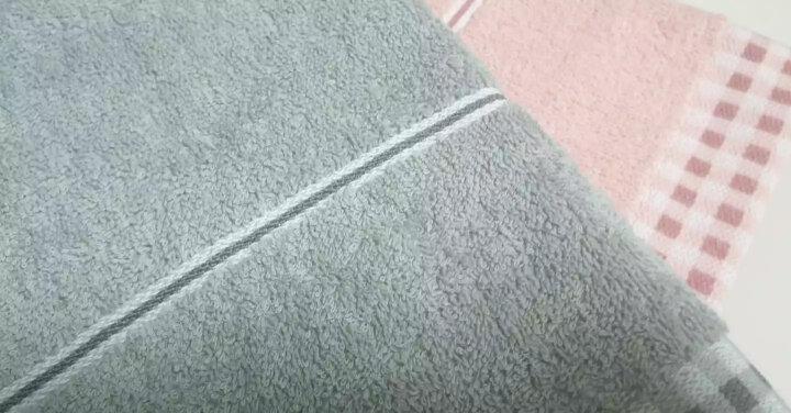 亚光 毛巾 纯棉色织吸水毛巾 全棉家用擦脸巾 洁面巾 咖啡时光 4条装 咖啡/深蓝 34*72cm/条 晒单图