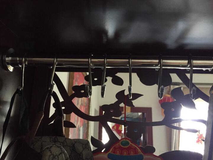 善庆 S型挂钩厨房挂勾浴室不锈钢挂钩置物架勾子衣柜钩 线径0.5cm/内径2.6cm-3.3cm 5只装 晒单图