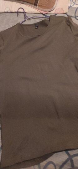 简束 短袖T恤男纯棉t恤夏季休闲男士运动紧身t恤男圆领纯色修身打底汗衫T067 白色 XL 晒单图