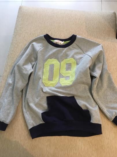 馨颂男童卫衣春秋童装儿童长袖上衣 灰色 150 晒单图