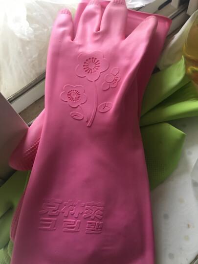克林莱韩国越南进口手套 彩色橡胶手套 清洁手套 家务手套 洗碗手套 中号C30064新老包装随机 晒单图