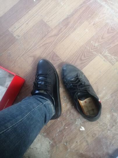 绅诺 休闲鞋男鞋夏季新款透气皮面明星同款运动板鞋子男士百搭潮鞋 黑色-1768C-网面款 44 晒单图