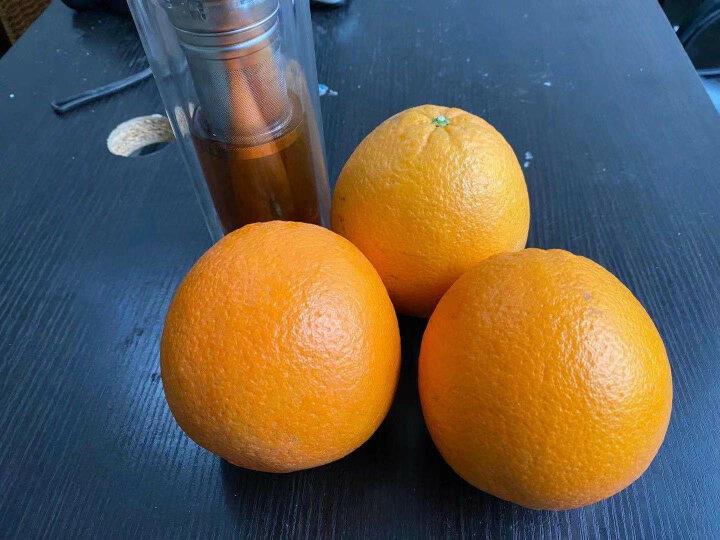 江西赣南脐橙 新鲜带叶橙子水果 无核薄皮赣州甜橙生鲜水果礼盒 晒单图