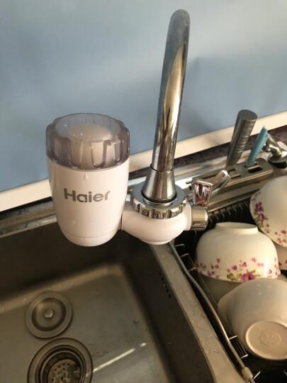【抢1机6芯 3年左右0费用】海尔HT101-1水龙头净水器台式净水机家用厨房过滤器自来水 晒单图