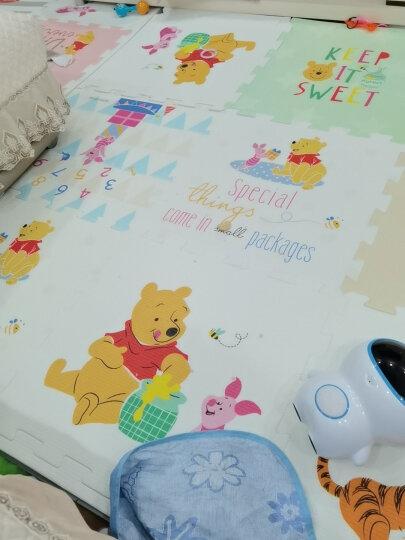 迪士尼DISNEY 宝宝爬行垫婴儿拼接爬爬垫 泡沫拼图防滑地垫游戏毯加厚2CM 60*60cm(含边条)新年礼物 儿童 晒单图