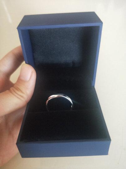 七度(SEVEN DEGREE) 925银戒指时尚男女款情侣戒指一对光面活口对戒圣诞节礼物 真爱女王套装 晒单图