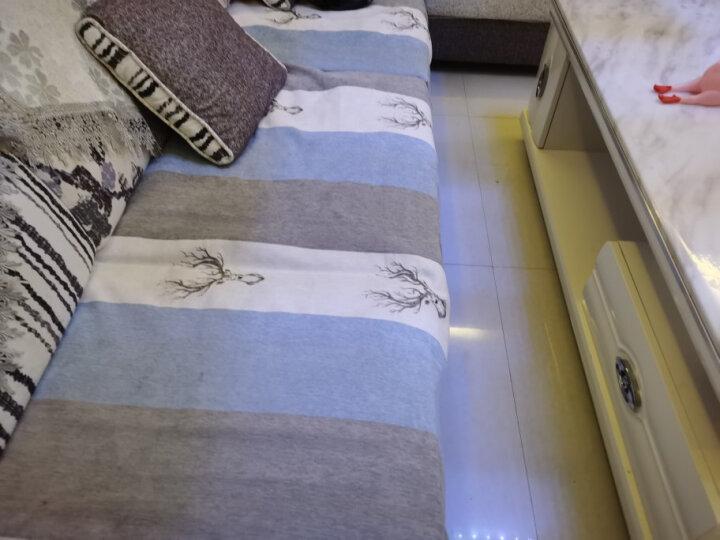 绿幽谷沙发垫套装防滑坐垫冬季通用沙发垫子四季毛绒沙发套罩巾椅垫飘窗垫窗台垫 格林紫色 单条90*120cm 晒单图