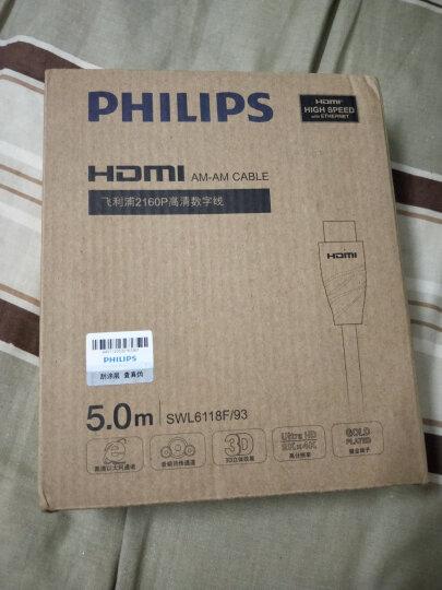 飞利浦(PHILIPS)HDMI线2.0版4K高清线 电视机顶盒连接线18Gbps 5米 SWL6118F/93 晒单图