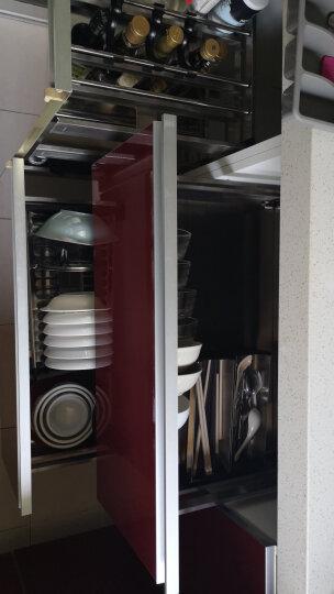 悍高(HIGOLD) 拉篮 不锈钢厨房橱柜碗碟拉篮抽屉式调味收纳篮碗篮 厨房置物碗架五金挂件碗架 升级款-304不锈钢-900柜套装(平篮+碗篮预售 60cm以上 晒单图