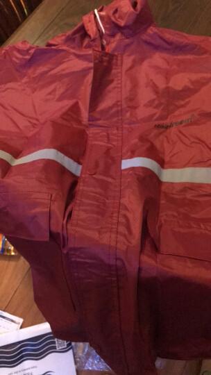 琴飞曼(Rainfreem)雨衣套装电动摩托车男女户外徒步工作加大加厚分体雨衣雨裤套装外卖夜反光雨具 深灰双层环视 L 晒单图