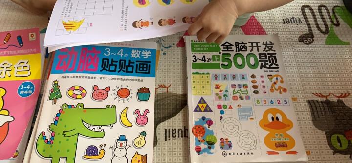 邦臣小红花·动脑贴贴画(3-4岁 套装共4册) 晒单图
