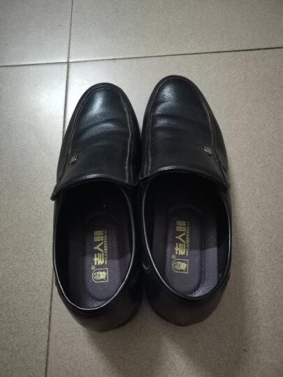 老人头(LAORENTOU)皮鞋男士商务鞋套脚舒适正装鞋头层牛皮爸爸鞋防滑耐磨懒人驾车鞋 LJD587 棕色 43 晒单图