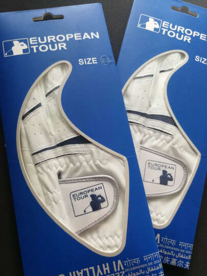 EUROPEAN TOUR欧巡赛 高尔夫手套 男士防滑吸汗透气款 左手 白色 新款 左手23码 晒单图