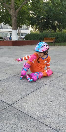 WITESS 溜冰鞋男女儿童套装旱冰鞋8轮PU全闪轮滑鞋滑冰鞋直排可调节大小 升级版-粉色8轮全闪+大礼包 S码(27码-33码)3岁到7岁 晒单图