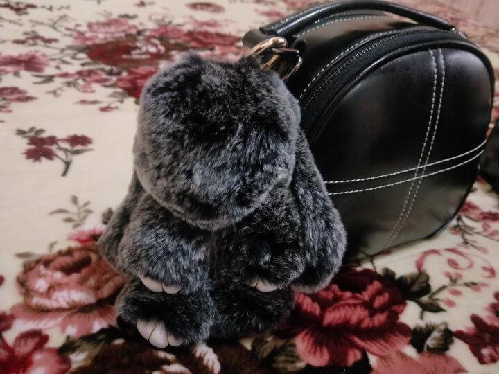 抖音同款三八节礼物送女友装死兔兔子毛绒玩具 兔子公仔皮草饰品包包挂饰 汽车钥匙扣布娃娃生日礼物 女生 霜灰色小兔(热卖款) 礼盒包装 晒单图