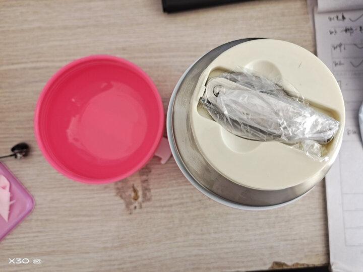 物生物(RELEA)焖烧杯不锈钢真空闷烧保温杯男焖烧罐女士便携宝宝辅食饭盒粥壶 HELLO焖烧罐 700ML奶油咖 晒单图