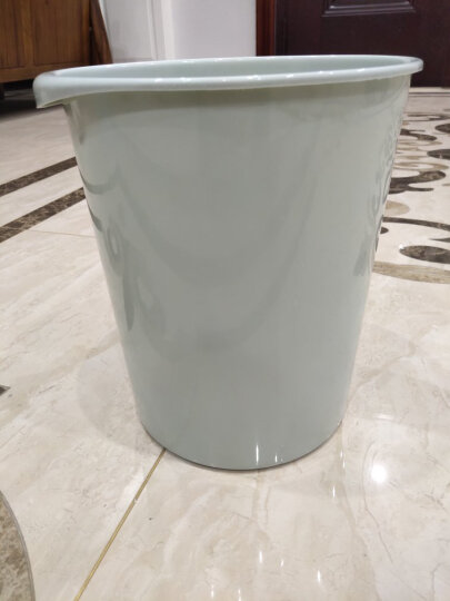 家杰优品 塑料垃圾桶 圆形纸篓 12L 大号 厨房客厅卫生间通用 手提款 JJ-101 晒单图