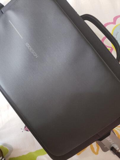 ?XDDESIGN蒙马特三代电脑包15.6寸USB防盗背包双肩包男手提商务公文包带密码锁包 黑色背包*1+原装密码锁*1 晒单图