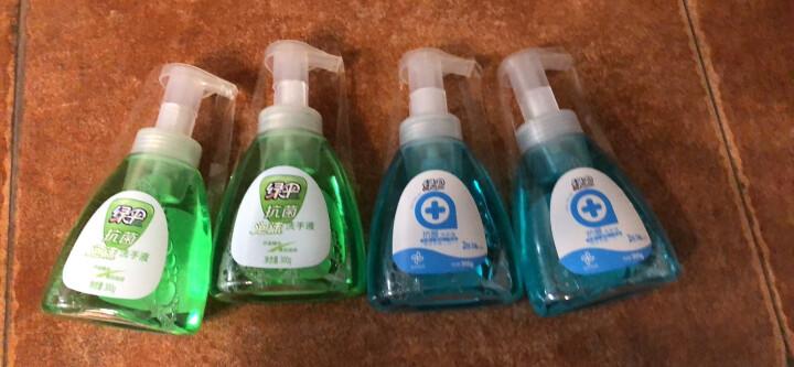 绿伞泡沫洗手液抗菌清洗中性温和护手不伤手300g*4瓶(2种香型随机发货) 晒单图