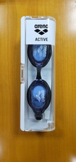 阿瑞娜arena泳镜 日本进口新款高清防雾大框游泳镜 专业舒适贴合防漏水游泳眼镜 男女通用9500N-EMSK 蓝色 晒单图