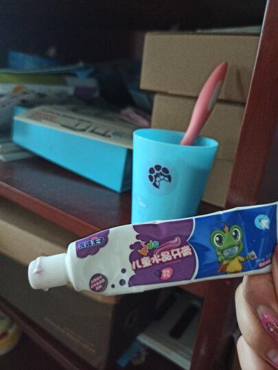 青蛙王子 儿童水晶牙膏50g*4支+牙刷4支 3-12岁水晶水果味微氟含维生素儿童牙膏 晒单图