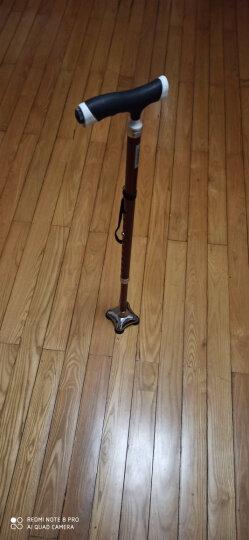 乐来福(REALLIFE) 拐杖 老人 四脚拐杖 拐棍 助行器 带灯铝合金可伸缩调节手杖 老人礼物S03YBK 晒单图