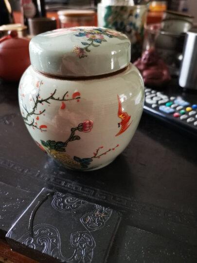 清同治粉彩花鸟茶叶罐 盖罐 仓库老瓷器 做旧仿古瓷收藏古玩古董 晒单图