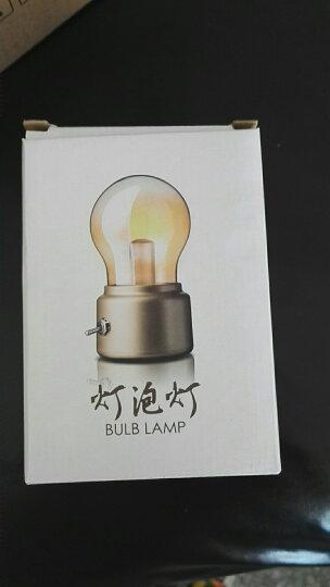 JANPIM小夜灯复古灯泡造型小台灯浪漫氛围灯创意USB可充电520送男女朋友闺蜜儿童礼物京东自营配 英伦复古金色 晒单图