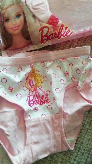 芭比(Barbie) 儿童内裤 纯棉女童少女内裤 宝宝三角平角裤小孩内裤4条装 E款6条装 适合身高140-150cm 晒单图