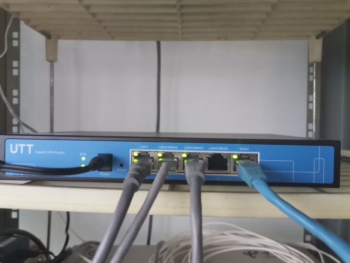 艾泰(UTT)518G全千兆多WAN口上网行为管理PPPOE认证宽带叠加企业级有线路由器 晒单图