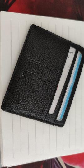 佐尔丹妮 超薄驾驶证皮套卡包男士牛皮卡片包证件卡套女迷你小零钱包 卡包名片夹 TE红色 晒单图