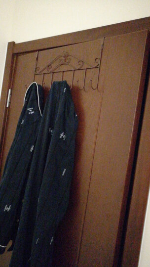 【买二送一】有嘉(youjia)创意欧式铁艺门后衣挂钩 免钉无痕衣服挂架 门上衣帽钩门背挂衣钩 七钩黑色;二个装 晒单图