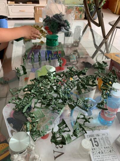 小兵人玩具军事塑料小人打仗沙盘100人 二战绿色沙色混色兵人士兵战争场景儿童玩具兵 两军对垒主图款 140人 晒单图