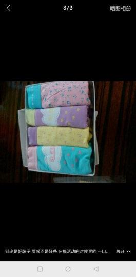 南极人(Nanjiren)女士内裤纯棉卡通复古甜美性感内裤女三角裤4条装 田园风情款 M/160 晒单图