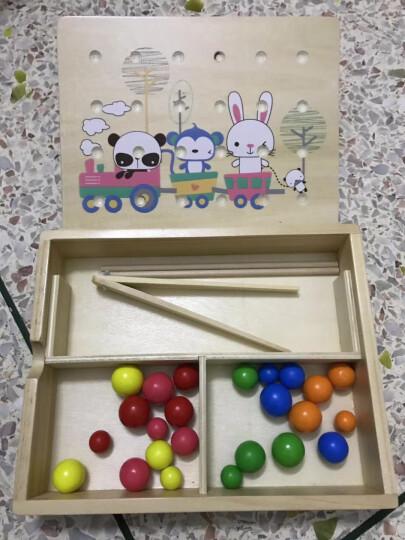 吉庆鸟蒙氏教具儿童益智玩具数学数数子教学对数板宝宝早教木制3-4-5-6周岁半 形状对数板 晒单图