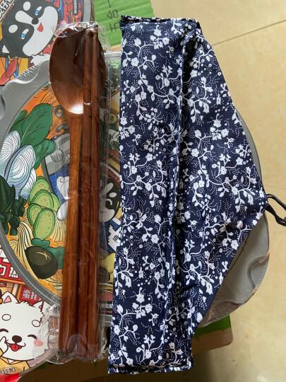 阳光飞歌 实木环保旅行餐具套装 日式优质原木勺子筷子套装 布艺便携袋 晒单图