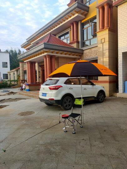 佳钓尼(JIADIAONI) 伏魔钓鱼伞 2.4米万向 防雨防紫外线防晒防风加厚 钓鱼遮阳伞垂钓 2.0米B款伏魔伞(橙黑) 钓鱼伞 晒单图
