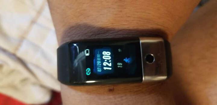 即诺 X1智能手环彩屏心率血压男女计步器穿戴运动腕表苹果魅族小米华为三星手机通用 金色(曲面屏+心率血压+提醒) 晒单图
