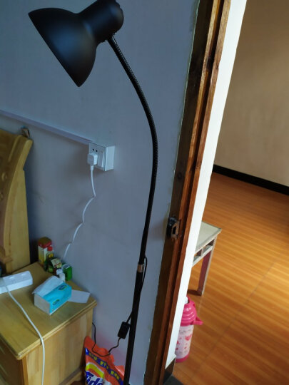 道远亮眼睛 LED落地灯补光灯 5W白光客厅书房简约工作钢琴阅读铁艺美式落地台灯 ML606黑色 晒单图