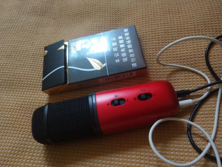 唱吧C1红色麦克风抖音快手手机麦克风话筒电脑苹果安卓通用录歌电容麦克风电脑音箱唱歌 晒单图