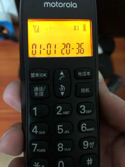 摩托罗拉(Motorola)数字无绳电话机 无线座机 子母机一拖三 办公家用 中文显示 双免提套装CL103C(黑色) 晒单图