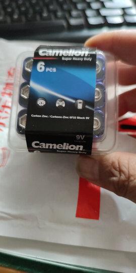 飞狮(Camelion)碳性电池 干电池 6F22/9V/9伏 电池 6节 遥控玩具/烟雾报警器/无线麦克风 晒单图