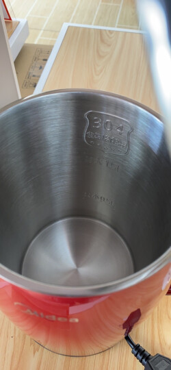 美的(Midea)电水壶热水壶电热水壶304不锈钢水壶双层防烫全钢无缝烧水壶WH415E2g 晒单图