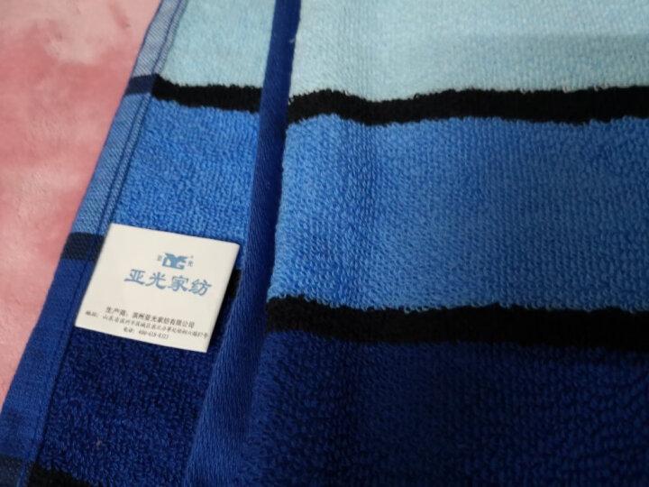 亚光 毛巾 纯棉色织吸水毛巾 全棉色彩擦脸巾 洁面巾 百丽条纹 3条装 红/蓝/棕色 110g/条 34*72cm 晒单图