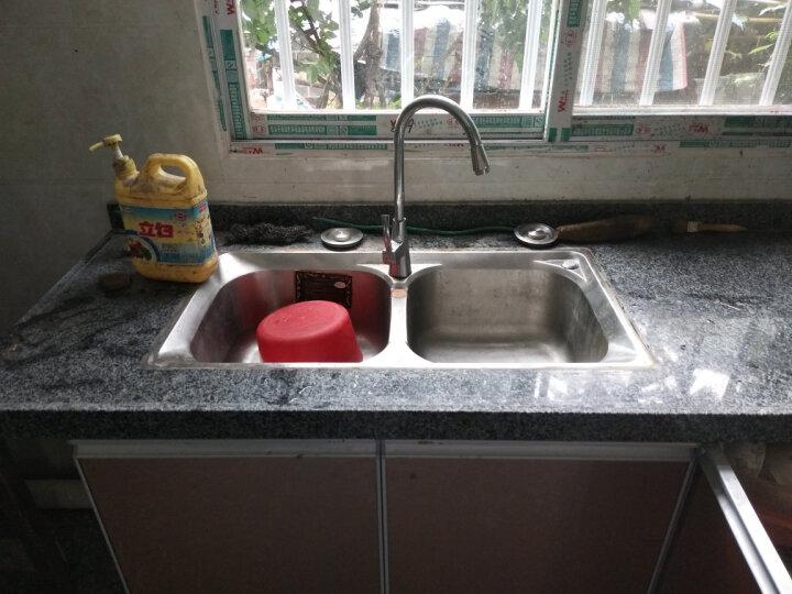 厨卫邦304不锈钢厨房水槽双槽洗碗盆洗菜盆水池菜盆洗菜池家用配件齐全304不锈钢水槽龙头套装 304刀架7843-12-件套 晒单图