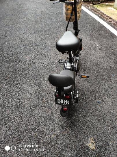 HIMIWAY嗨米 电动自行车代驾折叠电动车迷你锂电池电瓶车新国标成人小型滑板车男女单车 精英版黑色 汽车动力电芯 助力约60KM 保修5年 晒单图